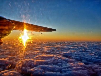 plane sunrise