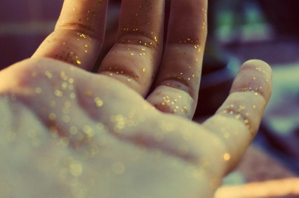 glitter hand